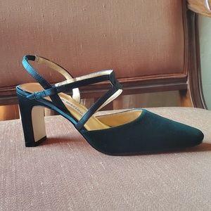 Vintage late 90s Ann Marino Velvet Heels